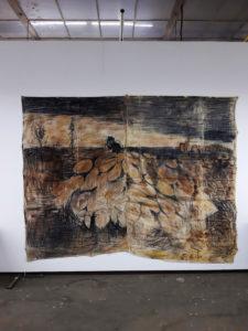 Monique-van-Gemert-Smulders-na-van-Gogh-Hedendgs-landschap-transparant-linnen-Rozenstraat-Ateliers-Hoge-school-voor-de-Kunsten-Tilburg