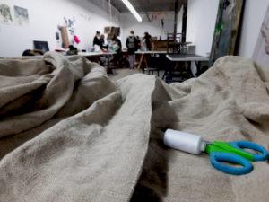 Monique-van-Gemert-Smulders-werken-in-Rozenstraat-ateliers-Fontys-hoge-school-voor-de-kunsten-Tilburg